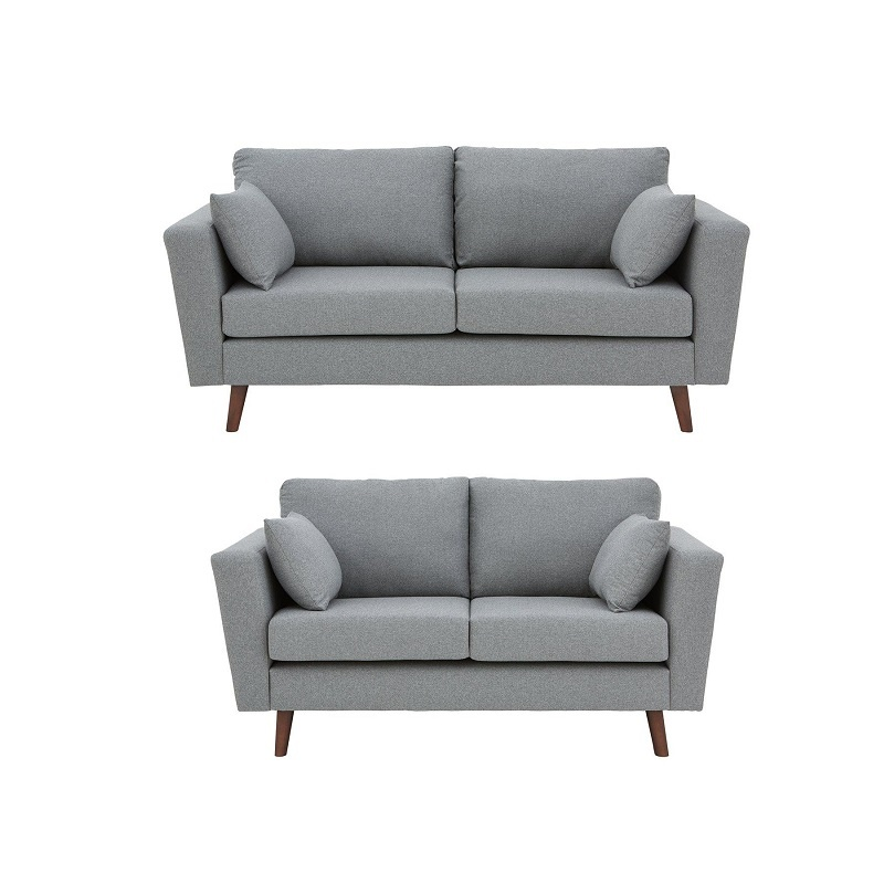 Fine Porter Fabric 3 Seater 2 Seater Sofa Set Grey Dailytribune Chair Design For Home Dailytribuneorg